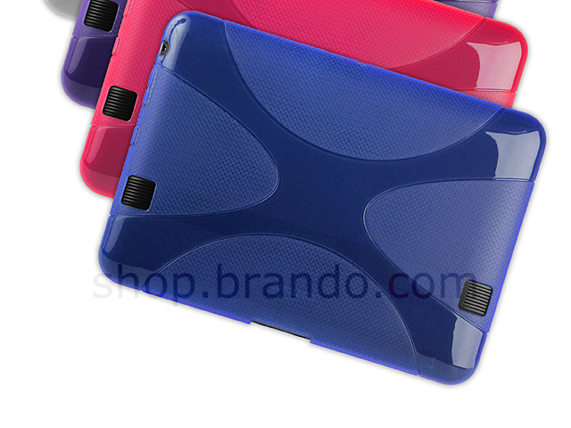 "Amazon Kindle Fire HD 7"" X-Shaped Plastic Back Case"