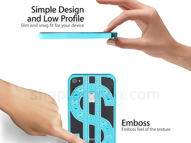iPhone 4S Dollar Sign Back Case