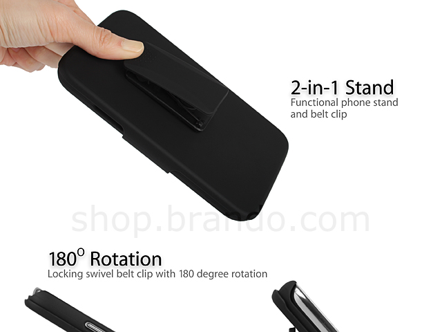 Samsung Galaxy Note II GT-N7100 Protective Case with Holster