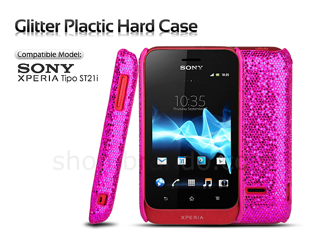 Sony Xperia Tipo ST21i Glitter Plactic Hard Case