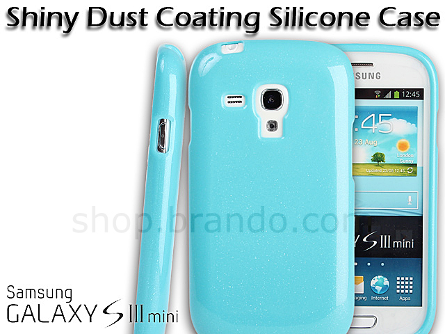 Samsung Galaxy S III Mini I8190 Shiny Dust Coating Silicone Case
