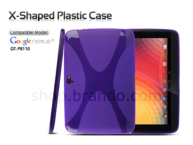 Google Nexus 10 GT-P8110 X-Shaped Plastic Back Case