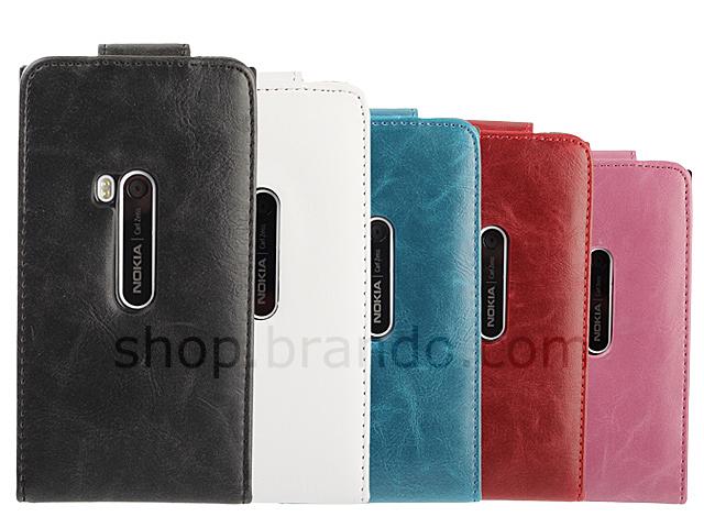 Nokia Lumia 920 Fashionable Flip Top Leather Case
