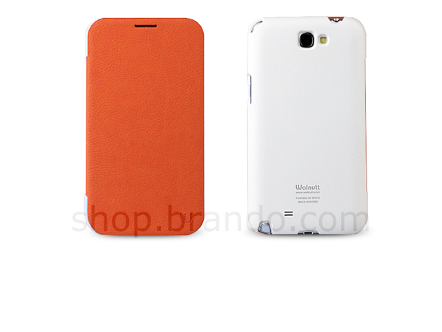 Zenus Samsung Galaxy Note II Walnutt Color Flip Case Series
