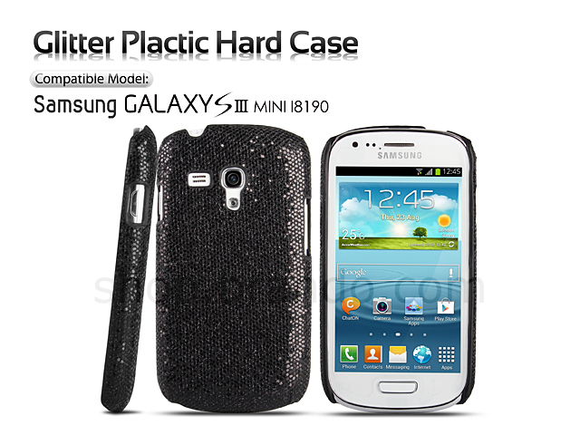 Samsung Galaxy S III Mini I8190 Glitter Plactic Hard Case