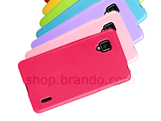 LG Optimus G E975 Shiny Dust Coating Silicone Case