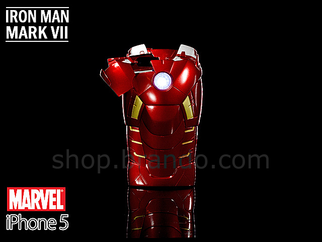 iPhone 5 / 5s MARVEL Iron Man Mark VII Protective Case with LED ...
