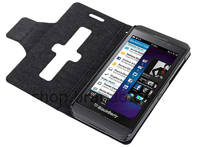 Blackberry Z10 Ultra Slim Side Open Leather Case With