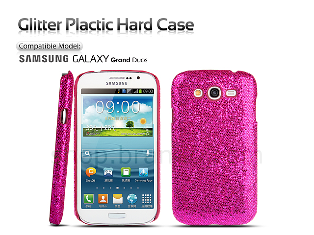 samsung galaxy grand duos i9082 glitter plastic hard case