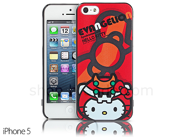 7dcd484d6 iPhone 5 / 5s Hello Kitty x Evangelion Unit-02 Back Case (Limited ...