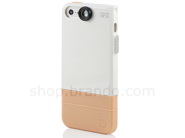 e554ec295771b9 iPhone 5 / 5s Double-Layer Protective Case with 110-Degree Wide Angle Lens