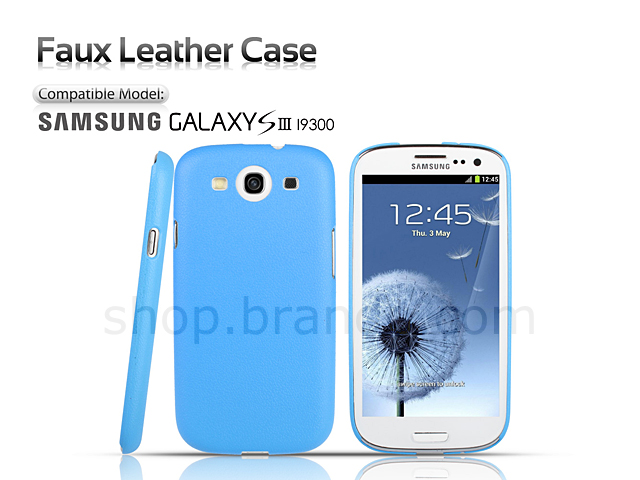 Faux Leather Case for Samsung Galaxy S III I9300