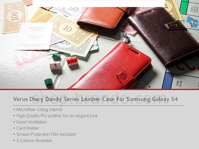 Verus Diary Dandy Series Leather Case For Samsung Galaxy S4