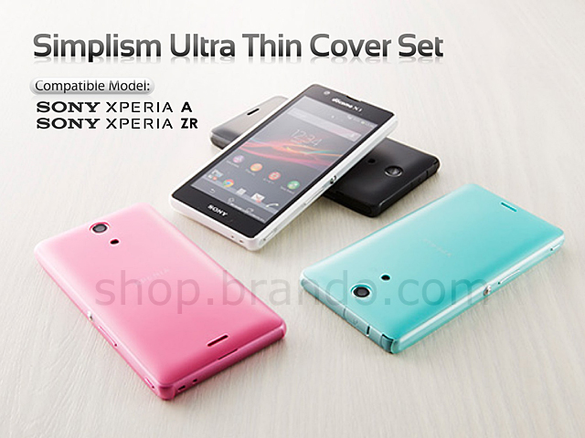 newest 26484 271b3 Simplism Ultra Thin Cover Set for Sony Xperia ZR (Xperia A)