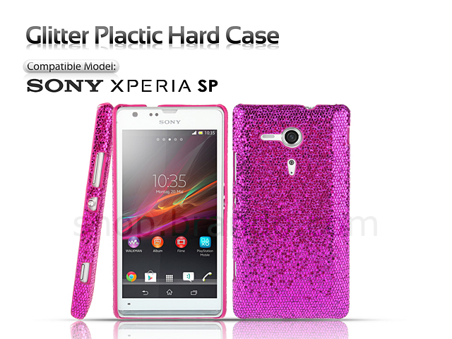 best sneakers 553b7 b5c90 Sony Xperia SP Glitter Plactic Hard Case