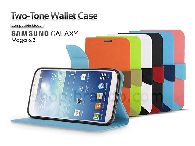 premium selection 0470e 88168 Samsung GALAXY Mega 6.3 Two-Tone Wallet Case