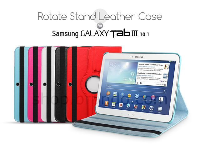 Samsung Galaxy Tab 3 10.1 Rotate Stand Leather Case