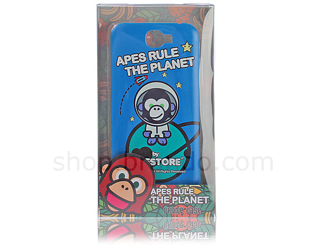 Samsung Galaxy Note II GT-N7100 APESTORE - Spaceman Apes Back Case