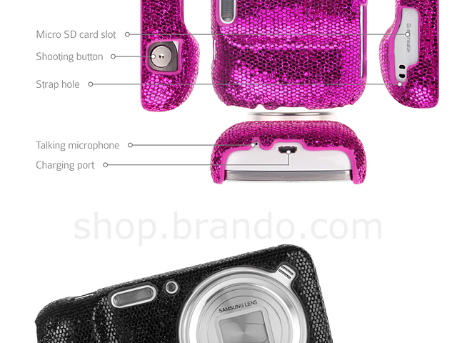 Samsung Galaxy S4 Zoom Glitter Plactic Hard Case