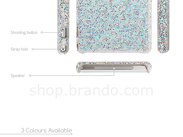 Sony Xperia Z1 Glitter Plactic Hard Case