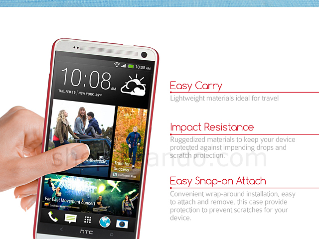 HTC One Max Rubberized Back Hard Case