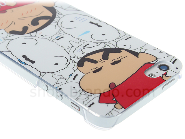 Iphone 5 5s Crayon Shin Chan With Shiro Back Case