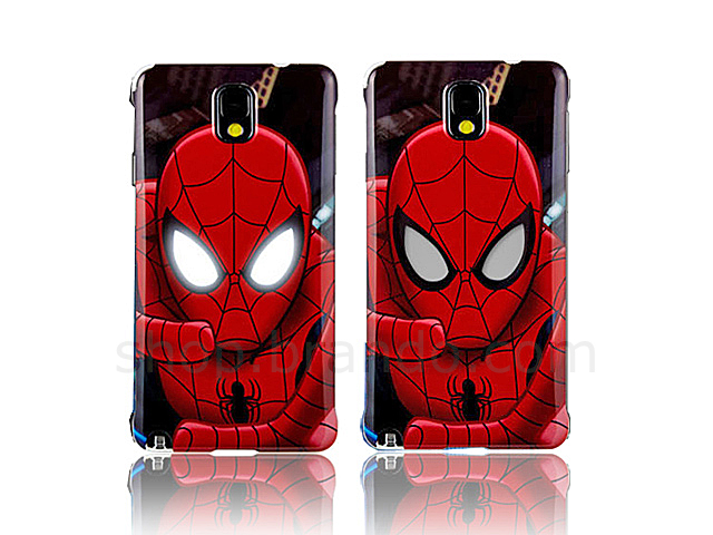 Samsung Galaxy Note 3 Marvel Spiderman Nfc Lighting Beam Case