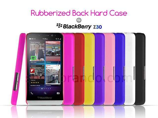 blackberry z30 rubberized back hard case