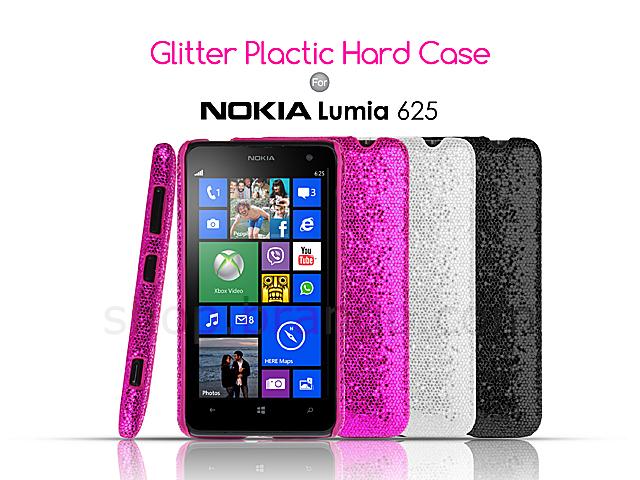 Case Design leather mobile phone case : Nokia Lumia 625 Glitter Plactic Hard Case