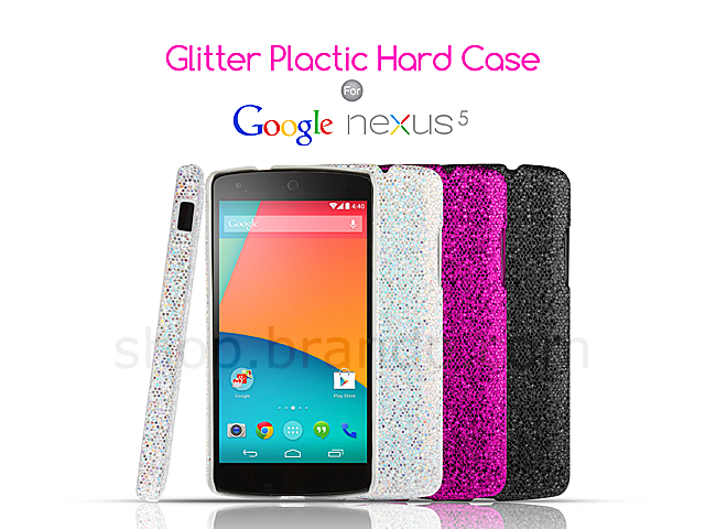 new styles ffa23 2e799 Google Nexus 5 Glitter Plactic Hard Case