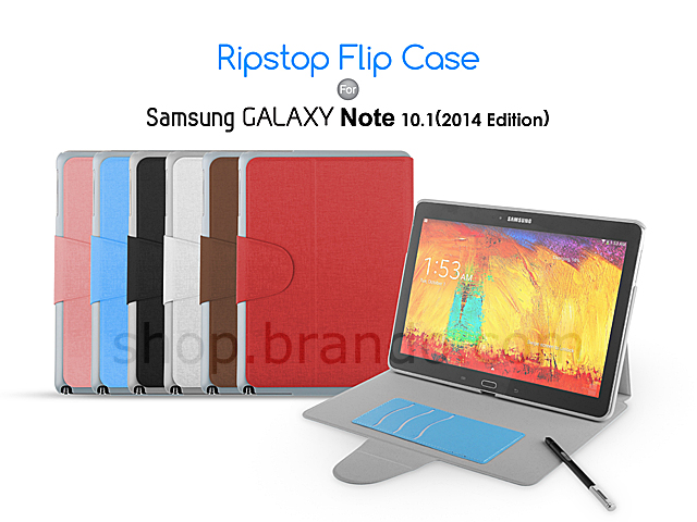 Ripstop Flip Case for Samsung Galaxy Note 10.1 (2014 Edition)