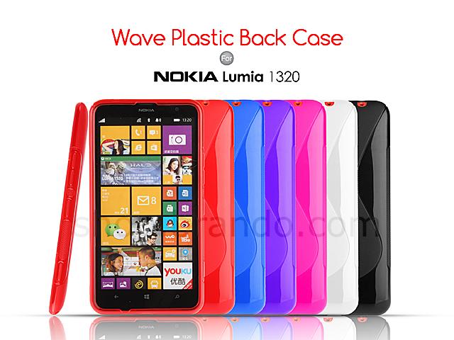 online store 1a015 27b49 Nokia Lumia 1320 Wave Plastic Back Case