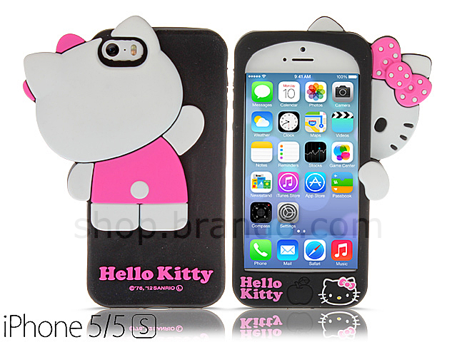 best service 95342 df15a iPhone 5 / 5s Hello Kitty 3D Hide and Seek Soft Silicone Case (Limited ...