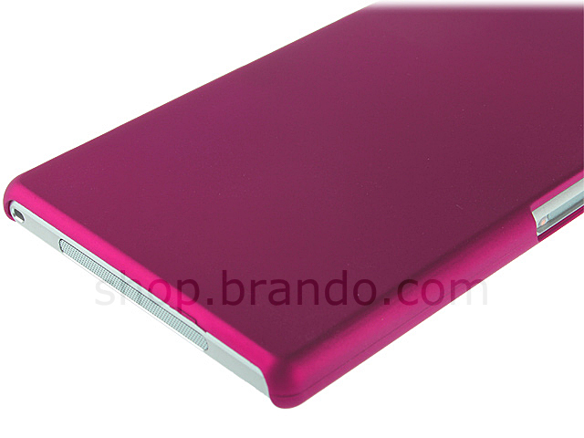 Sony Xperia Z1 Rubberized Back Hard Case