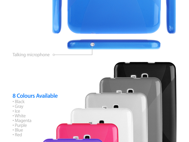 Samsung Galaxy Tab 3 Lite 7.0 X-Shaped Plastic Back Case