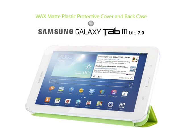 WAX Matte Plastic Protective Cover and Back Case for Samsung Galaxy Tab 3 Lite 7.0
