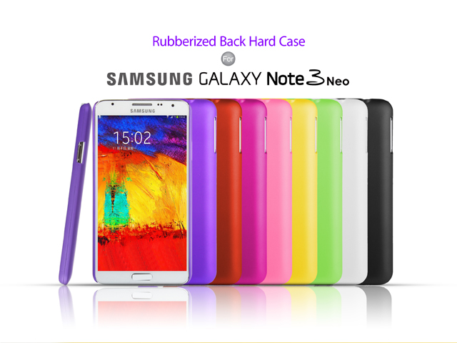 Samsung Galaxy Note 3 Neo Rubberized Back Hard Case
