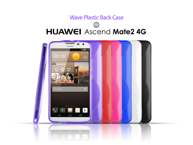 low cost 13182 b482b Huawei Ascend Mate2 4G Wave Plastic Back Case