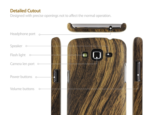 Samsung Galaxy Grand 2 Woody Patterned Back Case