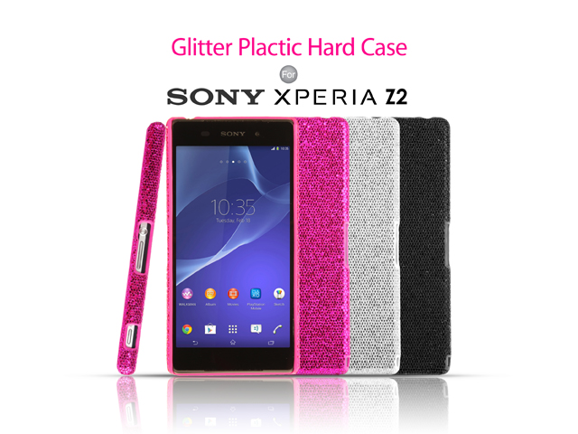 online store a9f37 60b68 Sony Xperia Z2 Glitter Plactic Hard Case