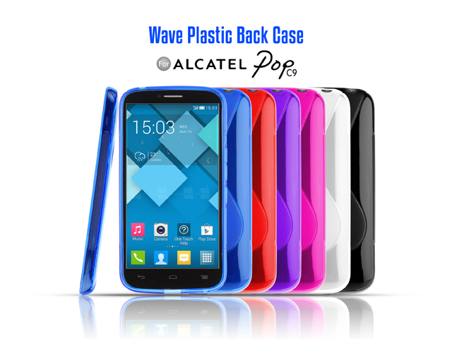 Alcatel pop c9 wave plastic back case