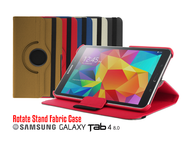 Samsung Galaxy Tab 4 8.0 Rotate Stand Fabric Case