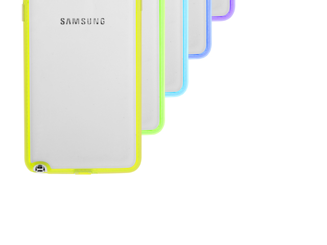 Samsung Galaxy Note 3 Neo Soft Case with Fluorescent Bumper