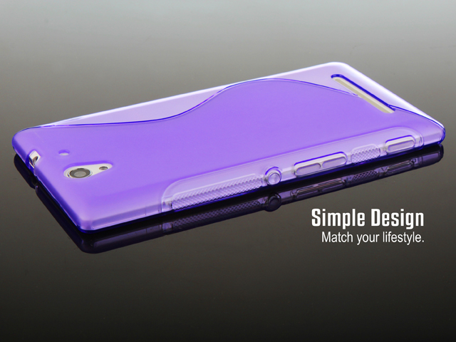 buy online 3a754 652b0 Sony Xperia C3 Wave Plastic Back Case