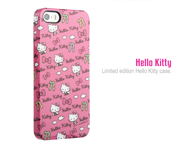 Iphone 5 5s Hello Kitty Candy Stick Print Hard Case