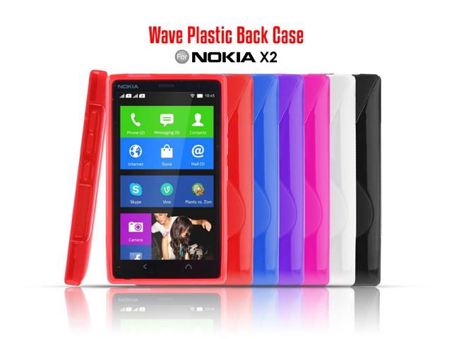 online store e219a 639ad Nokia X2 Dual SIM Wave Plastic Back Case