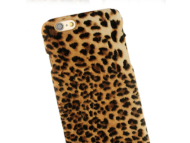 separation shoes ea327 e237c iPhone 6 / 6s Leopard Stripe Suede Case