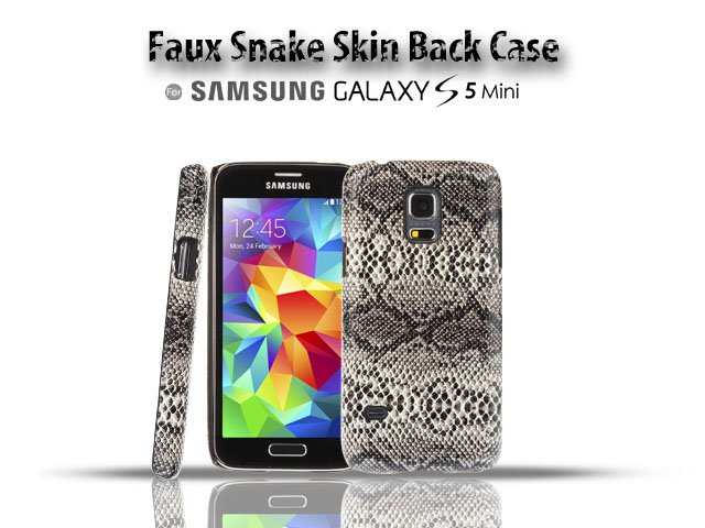 Samsung Galaxy S5 mini Faux Snake Skin Back Case