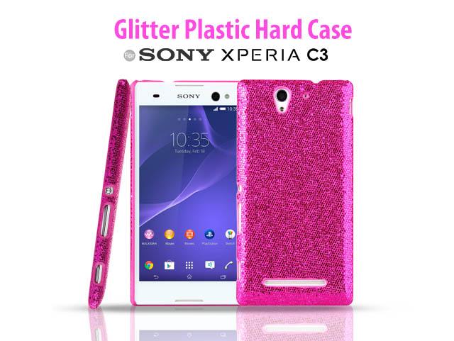 huge discount f7f0e d4662 Sony Xperia C3 Glitter Plactic Hard Case