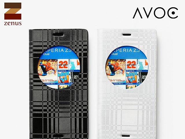 Zenus AVOC Z-View Mono Check Diary for Sony Xperia Z3